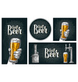 set horizontal vertical posters and coaster vector image vector image