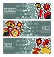 Set of Horizontal Banners about Chinese New Year vector image vector image
