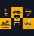 set of tow truck icon vector image