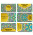 set of visiting card with mandala vector image vector image