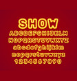 show city color blue font vector image vector image