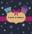 simple frame with presents and snowflakes vector image vector image