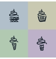 Sketch Set of Sweets vector image