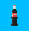 soda bottle with red lable flat icon vector image vector image