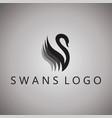 swans logo ideas design on vector image vector image