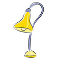 table lamp hand drawn design on white background vector image vector image