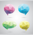 triangle speech clouds - triangular vector image