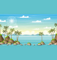 tropical coastal summer landscape vector image vector image
