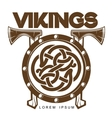 Viking Battle shield with axes vector image vector image