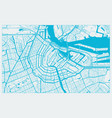 white and blue city map amsterdam vector image vector image