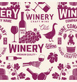 winery seamless pattern or background vector image vector image
