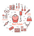 woman accessories concept with nail polish icon vector image vector image