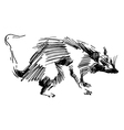 rat hand drawing black and white sketch vector image