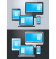 Computer Laptop Tablet Smart Phone Objects Set vector image