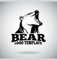 logo template with Roaring Bear for sport vector image