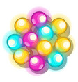 a bunch multicolored glowing christmas lights vector image vector image