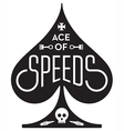 ace of speeds motorcycle or car racing vector image
