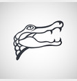 alligator logo icon design vector image vector image