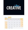 april calendar planner 2019 with motivational vector image