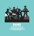 Band Of Musician Black Symbol vector image vector image