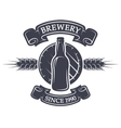 Barrel and bottle beer Brewery emblem vector image vector image