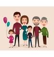 Big happy family cartoon concept vector image vector image