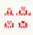 big set of happy family vector image