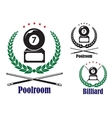 Billiard or pool badges or emblems vector image vector image