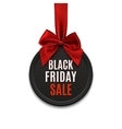Black Friday sale round banner vector image vector image