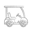cart golf icon image vector image vector image