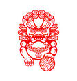 chinese foo dog vector image vector image