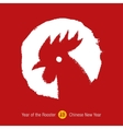 chinese year rooster background vector image vector image