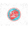 cleaning service icon spray bucket and mop vector image vector image
