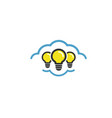 cloud lamp idea logo vector image