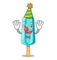 clown ice cream shaped stick on mascot vector image vector image