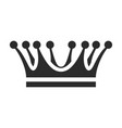 crown icon coronation and heraldry emblem design vector image vector image
