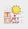 cute squirrel doodle cartoon vector image vector image