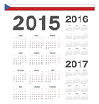 Czech simple calendars 2015 2016 2017 vector image vector image