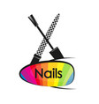 design for manicure and pedicure of nails vector image vector image