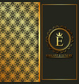 elegant and luxury golden monogram flowers banners vector image vector image