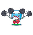fitness yogurt character cartoon style vector image