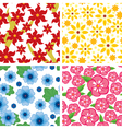 flower pattern set vector image