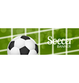 Football soccer banner design template with ball vector image vector image