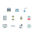 forensic examination flat color icons set vector image vector image