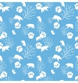 Forest bear and tree branch seamless pattern vector image vector image