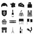 France black simple icons vector image vector image