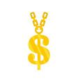 gold dollar symbol icon flat style vector image