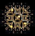 Golden mandala vector image