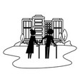 grandparents couple in cityscape avatars vector image vector image