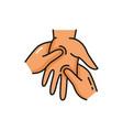 hand massage doctor massaging human palm icon